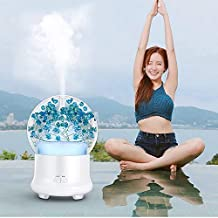 Jali Air Purifier & Cleaner Air Humidifier Purifier ML-824 100ML Gypsophila Flowers Aromatherapy Diffuser Air Humidifier w...