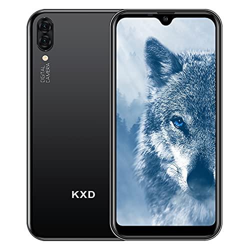 KXD A1 libero Smartphone Sbloccato 3G,5.71' Waterdrop Schermo,Triplo Slots (2 Nano SIM+1 MicroSD), 1GB RAM 16GB ROM Telefonia Mobile, 128GB Espandibili Cellulari,Fotocamera posteriore da 5 MP+5MP-Nero