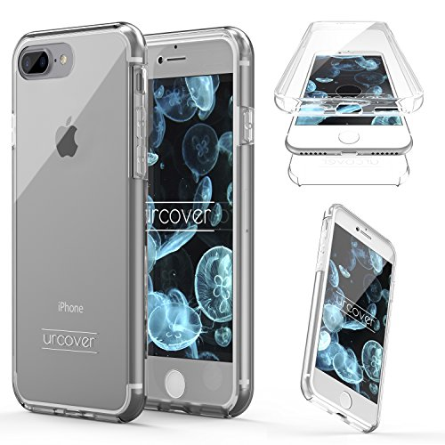 "Urcover Kompatibel mit Apple iPhone 7 Plus 8 Plus ""Touch Case 2.0"" [Upgrade Juni 2017] 360 Grad Rundum-Schutz Full Cover [Unbreakable Case bekannt aus Galileo] Crystal Clear Full Body Case"