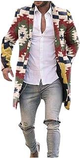 VJGOAL Offerta Uomo Cappotto di Lana Lungo Invernali Etnico Retro - Capispalla Cashmere Colore Arcobaleno Vintage - Cardig...