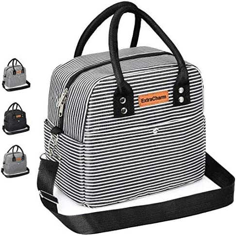 Insulated Lunch Bag Leakproof Portable Cooler Lunch Bag Adjustable Shoulder Strap Insulated product image