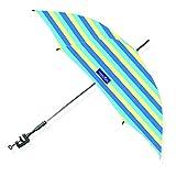 Caribbean Joe Chaby International Adjustable & Universal Clamp-On Beach Umbrella with UV Protection | 48 in (Bold Stripe)