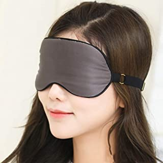 Asdfnfa Silk Goggles Sleep Shading Breathable Men and Women Cute Sleep Relief Eye Fatigue Eye Mask asdfnfa (Color : Gray)