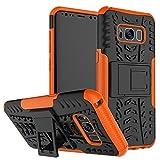 QiongniAN Funda para Samsung Galaxy S8,Teléfono con Soporte a Prueba de Golpes Funda para Samsung SM-G950FD Galaxy S8 / SM-G950U1 SM-G950F SM-G950N SM-G950U/D/W/J Carcasa Case Funda Orange