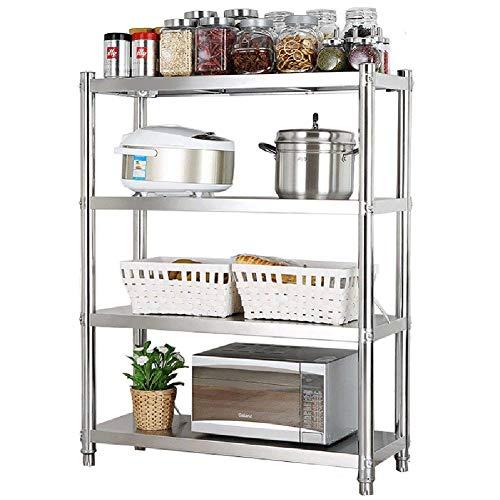 YLCJ Keuken Rack-Grote magnetron Toaster Oven Opslagplank roestvrij staal keuken Vrijstaande Organiseren Keuken Rack Bakkers-4 Tier (Afmetingen: Lengte 112 cm)