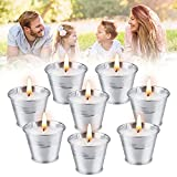 OFUN 8 velas de citronela, velas perfumadas de soja (ca. 15h x 8), velas de limoncillo para exteriores para jardín, camping, viajes, balcón, terraza