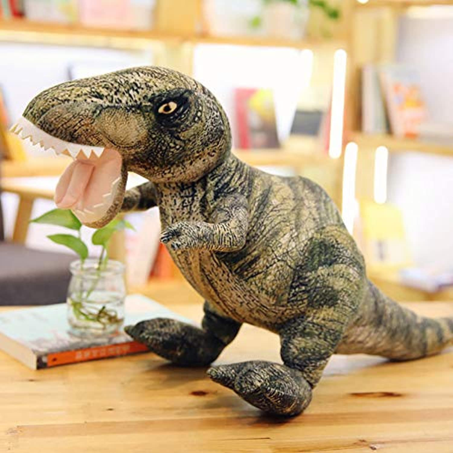 DONGER Big Dinosaur Toy Simulation Animal Large Tyrannosaurus Doll Triangle Dragon Doll Boy Cute Puppet, Tyrannosaurus, Medium