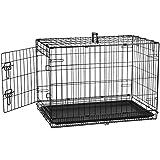 Amazonベーシック ペット用ケージ 折りたたみ式 シングルドア 76x48x53cm