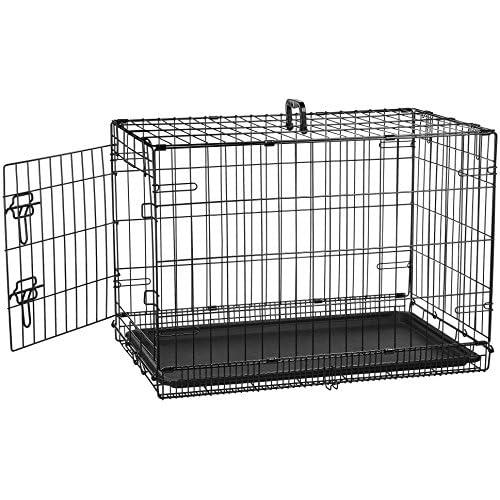 AmazonBasics - Gabbia in metallo richiudibile, per cani, Portiera Singola, 76cm