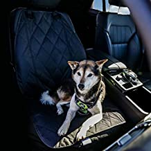 BarksBar Pet Front Seat Cover for Cars - Black, Nonslip Backing with Anchors, Quilted, Padded, Durable Pet Seat Covers for Cars, Trucks & SUVs