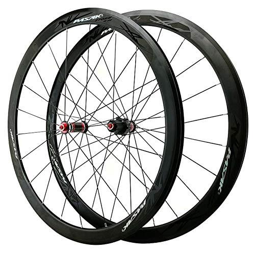 Llanta de bicicleta Bike Road Wheelset 700C Freno de llanta Rueda de bicicleta de liberación rápida CV Cantos de carbono de la aleación de la aleación de la pared de la doble pared del freno para el 2