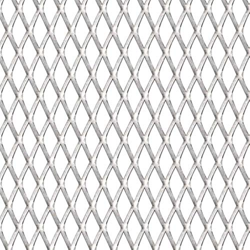 Galapara Gittermatte Drahtgitter | Maschendraht Edelstahl Streckmetall Gitter | für Errichten eines Zauns, Anbringen Einer Sicherheitsverkleidung, Bauen von Tierställen | 50×50 cm 45×20×4 mm