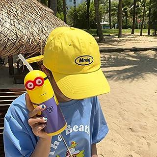 DUOLUO 韓国の黄色の野球帽の女性の夏の野生のカジュアルなスタイルの手紙刺繍キャップ潮の男の子のカップルsunhat