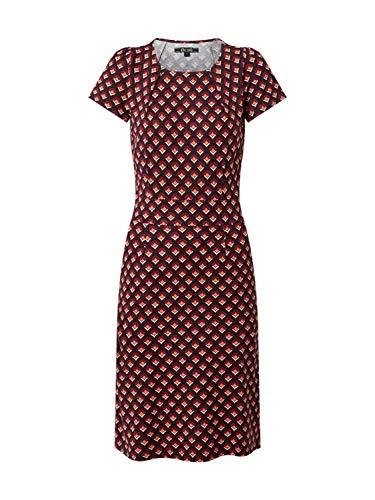 King Louie Damen Kleid Mona dunkelrot L (40)