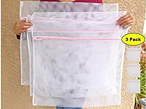 "Donna's She-Shed 3 Pack X-Large Mesh Laundry Bags 23"" x 23"" for Sweaters, Dresses, Stuffed Toys, delicates. Helps Protect ..."