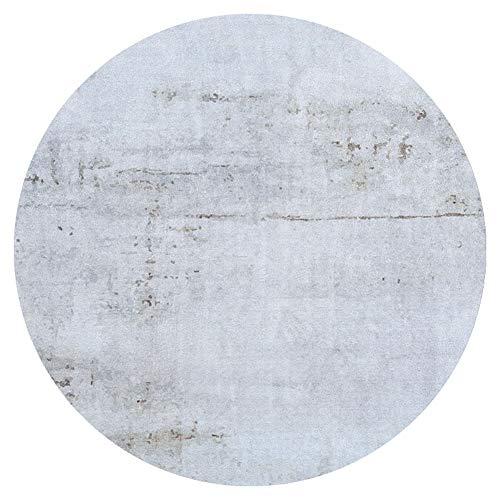 Teppiche Matten Teppichmaterial Teppich Kunstseide Rund Einfach Rutschfest Feuchtigkeitsfest Feuchtigkeitsfest Leicht Zu Reinigen Tingting (Farbe : Hellgrau, größe : 1.2M)