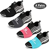 Sock Shoes Dance on Smooth Floors-Over Sneakers Shoe Socks Sliders-Zumba Strong Accessories Clothes-Shoe Sole Control Wraps- Pivots Turns on Wood Floors-4 Pairs for Women Men-One Size Fits All