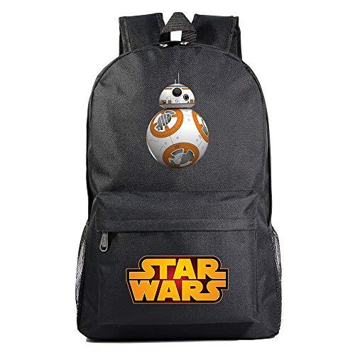 Mochila Star BB-8 Wars, Mochila Casual para Adolescentes, Mochila Grande Ligera Escuela, Mochila de Senderismo de Viaje Medio color-10