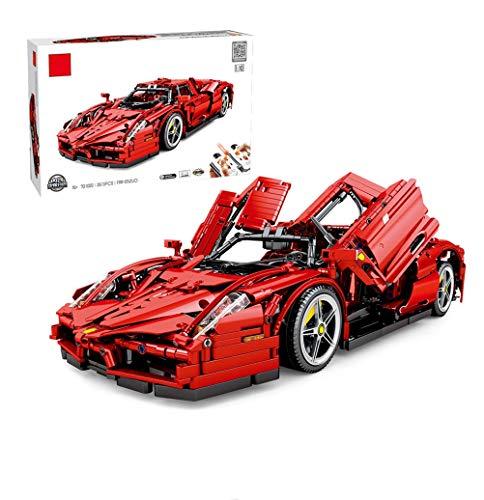 WXFXBKJ Bloques de construcción de autos deportivos, kit de construcción de autos de carreras 1:10 2.4 g de control remoto con 5 motores Deportes de automóviles MOC Bloques de construcción de juguetes
