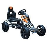 Homcom Kart à pédales Go-Kart Enfants 122L x 60l x 70H cm Ø Roues 29 cm...