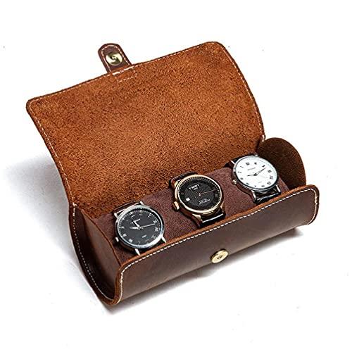 Family Watch - Organizador enrollable de piel para relojes de pulsera, estuche de almacenamiento para el hogar, oficina, organizador de cuero, bolso organizador, cartera para hombre y mujer
