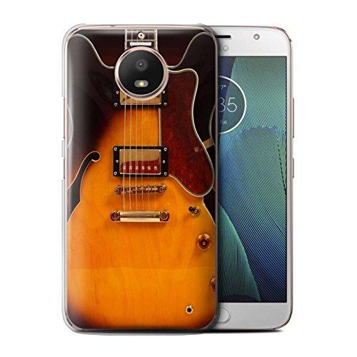 Stuff4® Hülle/Case für Motorola Moto E4 2017 / Semi Akustik Muster/Gitarre Kollektion