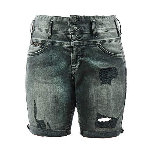 Herrlicher Damen Jeans Raya Short 513408918 (697 Blurred, 27)