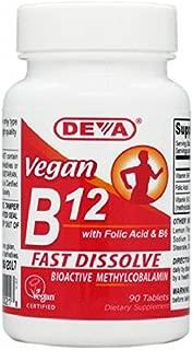 deva vegan vitamins sublingual b12 90 tablets
