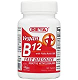 Deva Vegan Vitamins Sublingual B-12, 90 Tablets (Pack of 2)