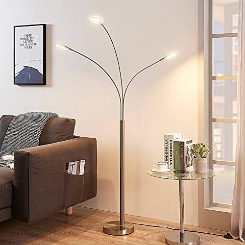 Lindby LED Stehlampe \'Anea\' (Modern) in Alu aus Metall u.a. für Wohnzimmer & Esszimmer (31 flammig, A+, inkl. Leuchtmittel) - LED-Stehleuchte, Floor Lamp, Standleuchte, Wohnzimmerlampe