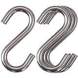 Cozihom Ganchos en forma de S de acero inoxidable 304 de alta resistencia, hamaca de 7,6 cm, ganchos Swing S, ganchos de calidad industrial, 4 paquetes