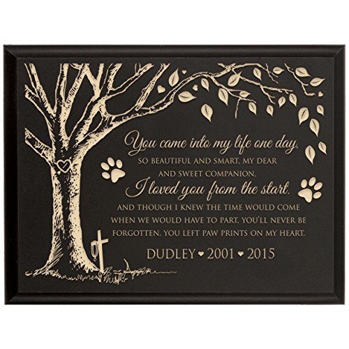 LifeSong Milestones Custom Engraved Personalized Wooden Wall Plaque Bereavement Keepsake in Remberance Loss of Pet Dogs or Cats Condolence Funeral Gift 6x8 You Came Into My Life