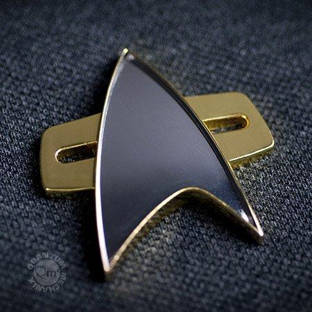 Filmwelt Shop Star Trek Voyager + DS9 Communicator Abzeichen mit Magnet Befestigung