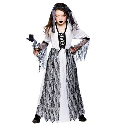 Costume enfant fantôme de mariée. robe et le casque. Moyenne 5-7 ans.