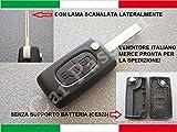 car passion Cover Chiave Guscio Citroen C2 C3 C4 C5 Picasso 2 Tasti Peugeot 107 206 207 307 308 406 407 Telecomando CE23 No Supporto Batteria