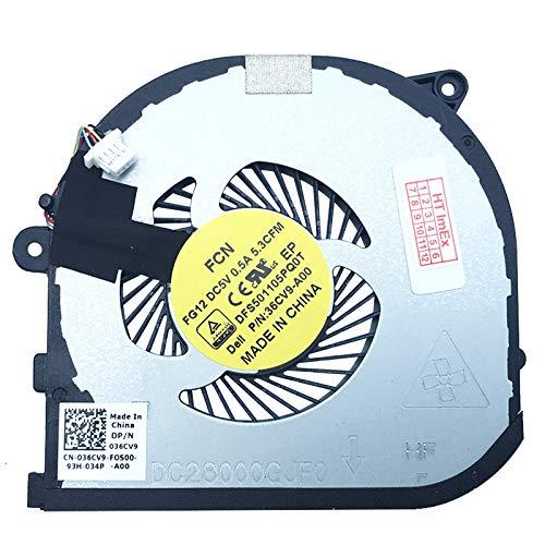 GPU Version Fan Cooler Compatible with Dell XPS 15 (9550-4945), XPS 15 (9550-4952), XPS 15 (9550-4969), XPS 15 (9550-4521), XPS 15 (9550-5170), XPS 15 (9550-4853)