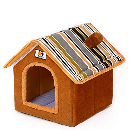XiaoDong1 Sommer Haustier Waschbar Zwinger Katzenstreu Pet Nest Zimmer Heimtierbedarf (Farbe : Brown, Size : S)