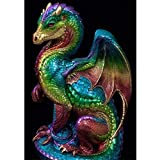 5D Diamond Painting Full Drill, Dragon Diamond Painting Kits for Adults Kids Crystal Rhinestone DIY Arts Craft for Home Wall Decor (A, 12x16inch)