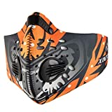 GrandeNero Balaclava Masks Face Mask Men Women Dustproof Filter Biker Mouth Mask (Orange)