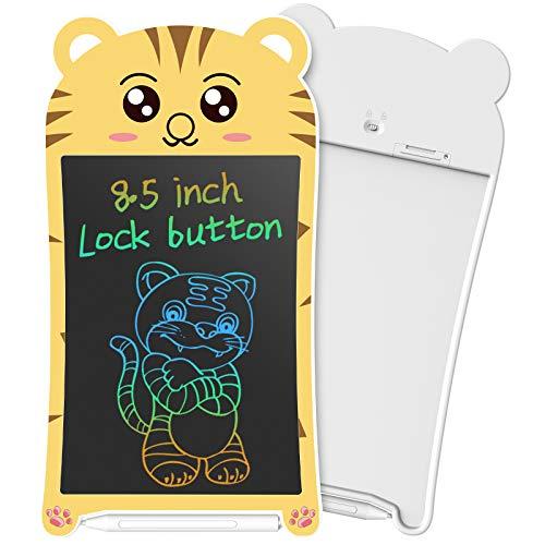 NEWYES Spielzeug Schreibtafel für Kinder, 8,5 Zoll LCD Maltafel, Geschenke ab 3 Jahren (Tiger)
