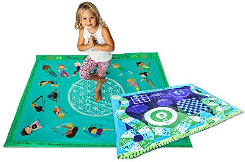 Yoga Kids Poses Mat Blanket Games Activity Blanket Soft Mink Childrens Kindergarten Toddler Kids Large Gift 50x60
