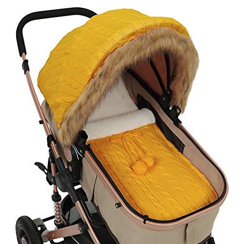 Tabpole Juego de saco de dormir para cochecito de bebé recién nacido con toldo para cochecito de bebé