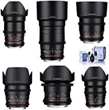 Rokinon Cine DS Lens Kit for Canon EF Mount Consists of 14mm T3.1 WA, 24mm T1.5 Lens, 35mm T1.5 Lens, 50mm T1.5 Lens, 85mm...