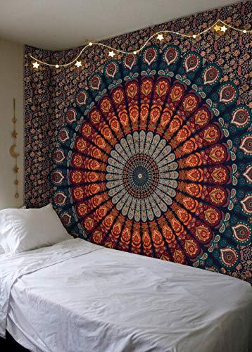Large Buddhist Mandala Tapestry Hippie Hippy Wall Hanging Beach Throw Bohemia...