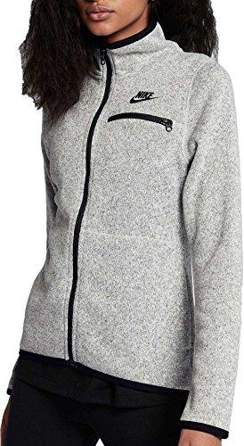 NIKE Sportswear Hoodie FZ ssnl Sudadera con Capucha, Mujer, Sportswear Hoodie FZ Ssnl, Gris y Negro, Extra-Large
