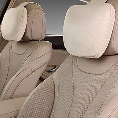 Modern neksteunkussen Minimalist Moda 2 stuks auto hoofdsteun Maybach Design klasse S Ultra verenkussen veloursleder zwart beige bruin voor Mercedes Benz Pillow toegang