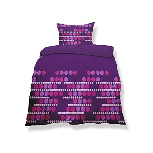 CelinaTex Aqua-Textil 0500128 Living 2-TLG. Bettwäsche 4-Jahreszeiten 155 x 220 cm Mikrofaser Bettbezug 2 teilig Malaga lila pink Punkte