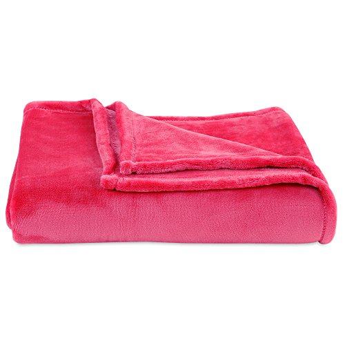 Berkshire Blanket VelvetLoft Ultra Soft Cozy Warm Luxury Plush Throw Blanket, Bougainvillea, 60' x 70'