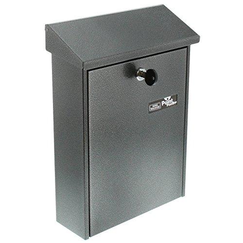 BURG-WÄCHTER Briefkasten mit aufklappbarem Regendach, A5 Einwurf-Format, Verzinkter Stahl, Daily 5861 E, Eisen