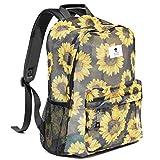 Original Print Mesh Backpack Semi-Transparent Sackpack See Through Beach Bag Daypack Multi-Purpose Women Men Unisex (Sunflower)